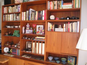 Display shelves and cupboards for storage