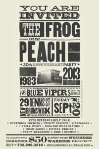 Frog & Peach flyer
