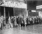 "Photo from SSA.gov. During the Great Depression preceding the passage of the Social Security Act, ""soup kitchens"" provided the only meals some unemployed Americans had. This particular soup kitchen was sponsored by the Chicago gangster Al Capone."