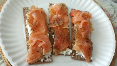 Cured Salmon on Finn Crisp