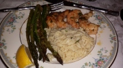Baked Shrimp with orzo
