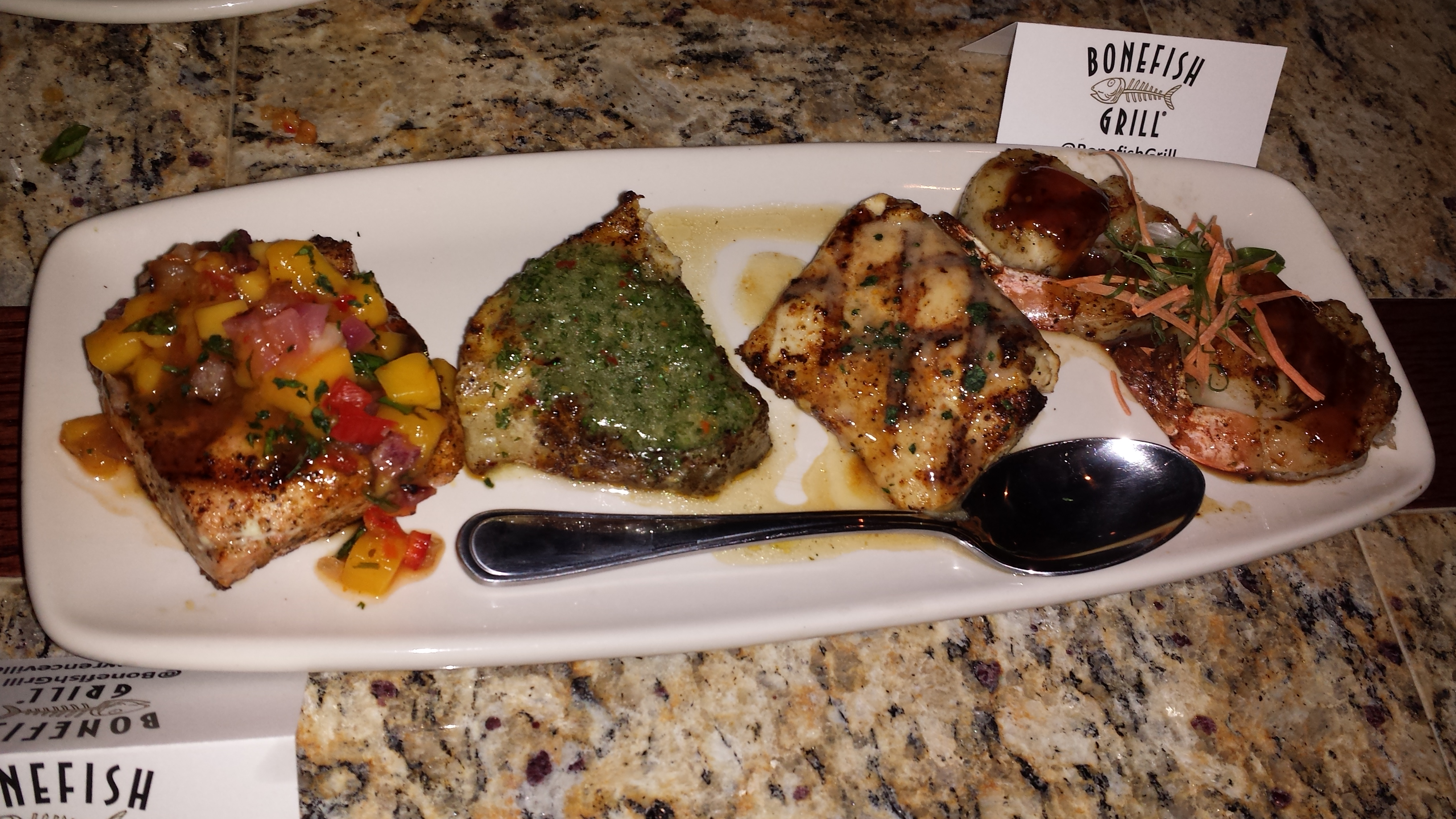 Bonefish grill fish ahoy nj spice for Fish grill menu