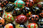 Photo of Ukrainian Easter eggs, Created by Luba Petrusha 2006 on Wikipedia