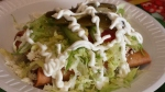 Crispy chorizo/potato tacos (flautas)