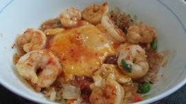 Sweet Chili Shrimp with kimchi rice