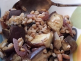 September Recipe of the Month – Farro Salad with Roasted Eggplant, Caramelized Onion, and Pine Nuts
