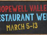 Coming Right Up: Hopewell Valley Restaurant Week!