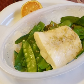 FreshDirect Halibut, better than it looks, just too tired to plate it.