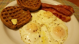 Breakfast for dinner with pullet eggs