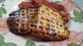 Waffled panettone