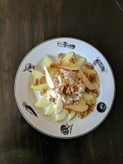 Bros Moon Chicken, apple, walnut salad
