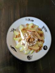 Bros Moon Chicken, apple, walnut salad