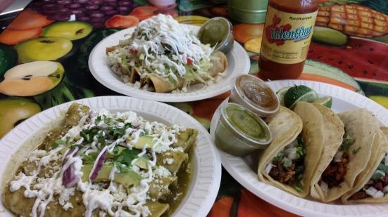 La Costeñita flautas, tacos, enchiladas